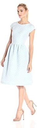 Helene Berman Women's Flower Jacquard Dress