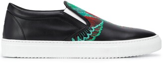 Marcelo Burlon County of Milan embroidered wings slip-on sneakers