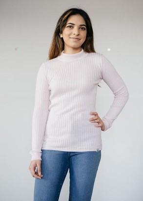 Komodo Merino Wool Ari Jumper In Shell Pink - M