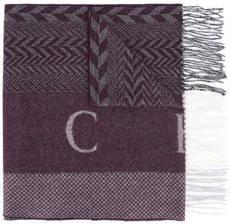 Hackett Zig-Zag Knit Scarf
