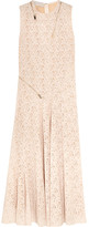 Stella McCartney Zip-detailed Lace Gown - Ivory
