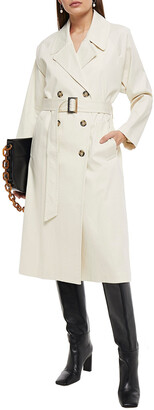 BA&SH Tintin Double-breasted Belted Cotton-blend Trench Coat