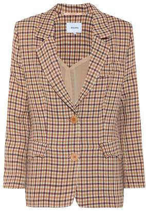 Nanushka Jerome checked wool blazer