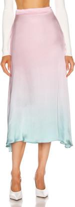Olivia Rubin Penelope Skirt in Pink & Green Ombre | FWRD