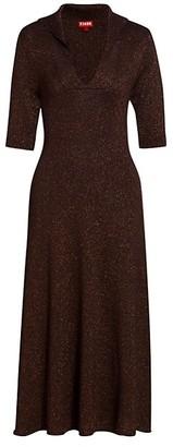 STAUD Breck Knit Midi Dress