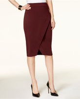 INC International Concepts Faux-Wrap Pencil Skirt, Created for Macy's