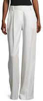 Kimora Lee Simmons Liquid Wool Pleated Trouser