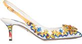 Dolce & Gabbana Majolica-print embellished pumps