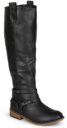 Journee Collection Walla Harness Riding Boot - Extra Wide Calf