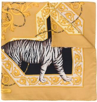 Salvatore Ferragamo Pre Owned 1980s Animal Print Scarf