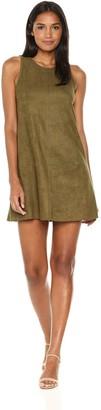 Karen Kane Women's Faux Suede A-line Dress