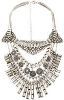 Very Statement Mixed Media Layered Necklace