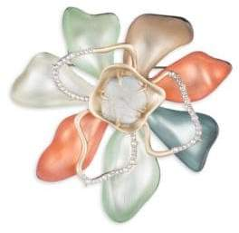 Alexis Bittar Roxbury Muse Abstract Colorblock Flower Pin