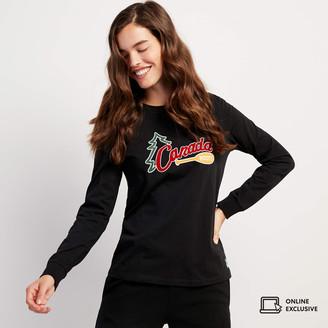 Roots Womens Outdoors Long Sleeve T-shirt