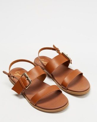 Spurr Women's Brown Flat Sandals - April Comfort Sandals - Size 5 at The Iconic