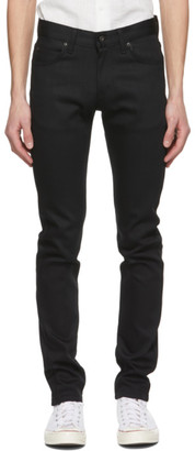 Naked and Famous Denim Black Stretch Super Guy Jeans