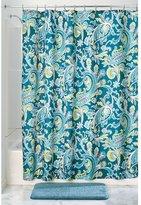 "InterDesign Harper Paisley Fabric Shower Curtain - 72"" x 72"", Teal Multi"