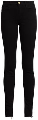 Frame Le Skinny de Jeanne Mid-Rise Side Slit Jeans