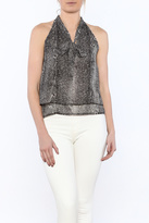 Bishop + Young Snakeskin Sleeveless Blouse