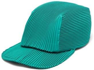 Issey Miyake Homme Plissé Homme Plisse Flat-brim Pleated Cap - Mens - Green