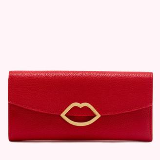 Lulu Guinness Women's Cut Out Lip Trisha Wallet - Classic Red