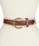 Michael Kors Braided Belt with Macrame Edge