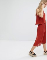 Pull&Bear Pleated Midi Co-ord