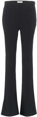 Galvan Crepe high-rise flared pants