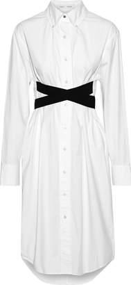 Proenza Schouler Pswl Belted Cotton-poplin Shirt Dress