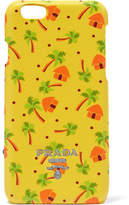 Prada Printed Textured-leather Iphone 6 Case - Yellow