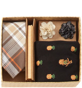 Original Penguin Mens' Tie, Pocket Square, Socks, & Lapel Pins Set