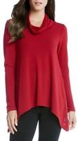 Karen Kane Funnel Neck Jersey Handkerchief Hem Sweater