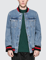 MSGM Denim Varsity Jacket