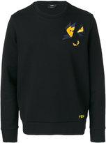 Fendi Faces butterfly sweatshirt - men - Cotton/Polyester - 46