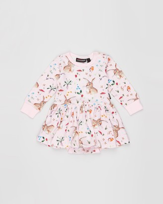 Rock Your Baby Cotton Tail Long Sleeve Waisted Dress - Babies