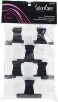 Salon Care Black & White 2 Inch Butterfly Clamps