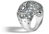 John Hardy Bamboo Dome Ring in Silver with Gemstone