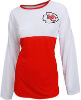 COLLEGE CONCEPTS INC Women's College Concepts Kansas City Chiefs NFL Long-Sleeve Vortex T-Shirt