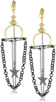 "Azaara Paris"" Chandelier Star Drop Earrings"