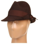 San Diego Hat Company CHA6360 Turned Brim Fedora (Chocolate) - Hats