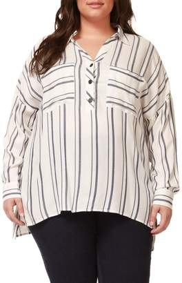 Dex Plus Striped Long-Sleeve Shirt