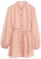 Schumacher Dorothee Checked Transparencies Blouse in Rose Check TS