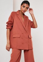 Missguided Rust Co Ord Oversized Masculine Blazer