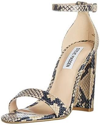 Steve Madden Women's Carrson Sandal (Snake) Open Toe, Brown (TAN 862)