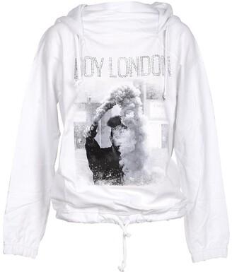 Boy London White Printed Cotton Signature Hoodie