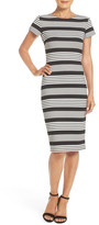 Felicity & Coco Stripe Short Sleeve Sheath Dress (Nordstrom Exclusive)