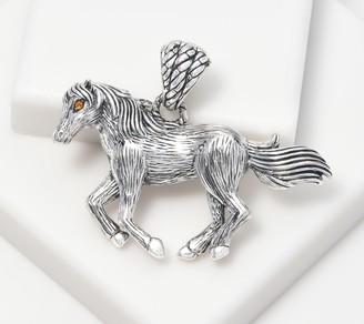 JAI Sterling Silver & Citrine Spirit Horse Enhancer, 18.0g