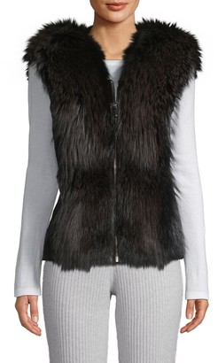 Wolfie Fur Made For Generation Fox Fur & Leather Vest