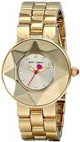Betsey Johnson Women's BJ00402-02 Analog Display Quartz Gold Watch
