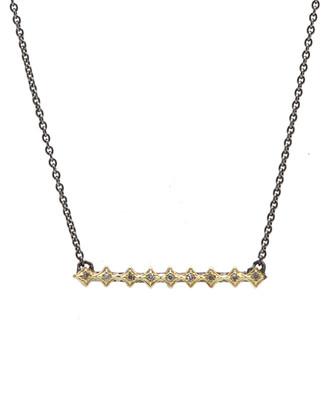 Armenta Old World Diamond Crivelli Bar Necklace